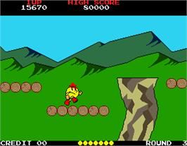In game image of Pac-Land on the Arcade.