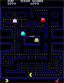 In game image of Pac-Man on the Arcade.