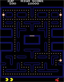 In game image of Pac-Man - 25th Anniversary Edition on the Arcade.