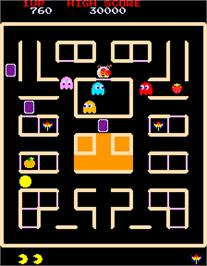 In game image of Pac-Man & Chomp Chomp on the Arcade.