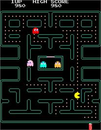 In game image of Pac-Man Plus on the Arcade.