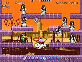 In game image of Pang Pang on the Arcade.