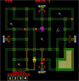 In game image of Pepper II on the Arcade.