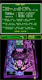In game image of PinBot on the Arcade.