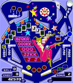 In game image of Pinball Action on the Arcade.