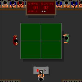 In game image of Ping Pong Masters '93 on the Arcade.