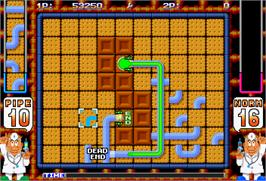 In game image of Pipe Dream on the Arcade.