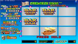 In game image of Pirate 2001 on the Arcade.