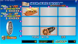 In game image of Pirate 2002 on the Arcade.