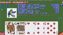 In game image of Pirate Poker II on the Arcade.