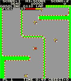 In game image of Pit & Run - F-1 Race on the Arcade.