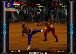 In game image of Pit Fighter on the Arcade.
