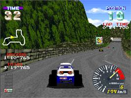 In game image of Pocket Racer on the Arcade.