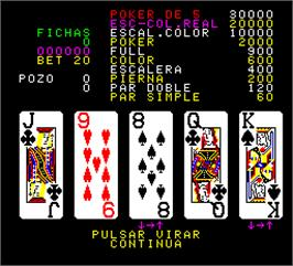 In game image of Poker 91 on the Arcade.