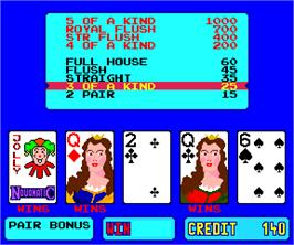 In game image of Poker De Win on the Arcade.