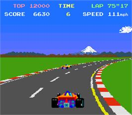 In game image of Pole Position on the Arcade.