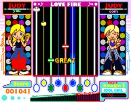 In game image of Pop'n Music 2 on the Arcade.
