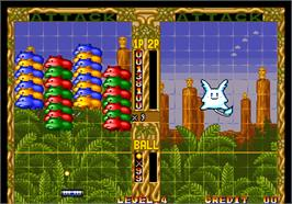 In game image of Pop 'n Bounce / Gapporin on the Arcade.