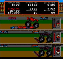 In game image of Power Drive on the Arcade.