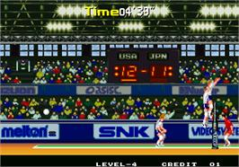 In game image of Power Spikes II on the Arcade.