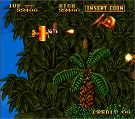 In game image of Prehistoric Isle in 1930 on the Arcade.