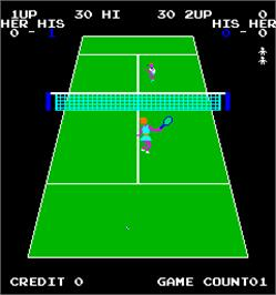 In game image of Pro Sports - Bowling, Tennis, and Golf on the Arcade.