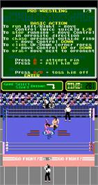 In game image of Pro Wrestling on the Arcade.