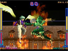In game image of Psychic Force EX on the Arcade.