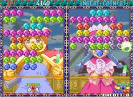 In game image of Puchi Carat on the Arcade.
