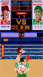 In game image of Punch-Out!! on the Arcade.