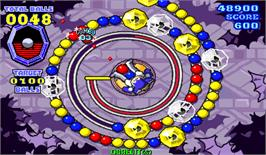 In game image of Puzz Loop 2 on the Arcade.