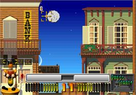 In game image of Puzzle & Action: Sando-R on the Arcade.
