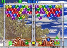 In game image of Puzzle Bobble 2X on the Arcade.