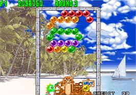 In game image of Puzzle Bobble 2 / Bust-A-Move Again on the Arcade.