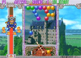 In game image of Puzzle Bobble 3 on the Arcade.