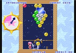 In game image of Puzzle De Pon! on the Arcade.