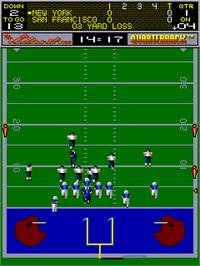 In game image of Quarterback on the Arcade.