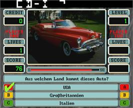 In game image of Quizard 2.2 on the Arcade.