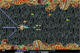 In game image of R-Type on the Arcade.