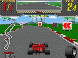 In game image of Racing Beat on the Arcade.