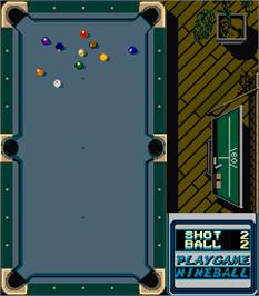 In game image of Rack 'em Up on the Arcade.