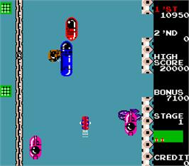 In game image of Radical Radial on the Arcade.