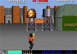 In game image of Rambo III on the Arcade.
