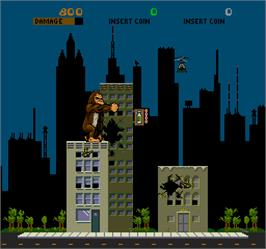 In game image of Rampage on the Arcade.