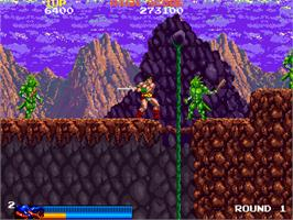 In game image of Rastan on the Arcade.