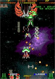 In game image of Ray Force on the Arcade.