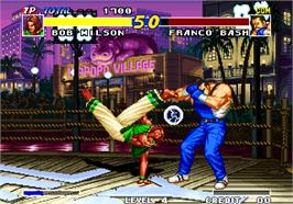 In game image of Real Bout Fatal Fury / Real Bout Garou Densetsu on the Arcade.