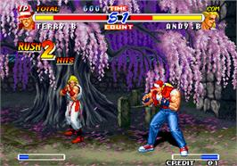 In game image of Real Bout Fatal Fury 2 - The Newcomers on the Arcade.