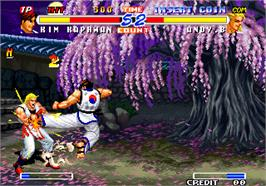 In game image of Real Bout Fatal Fury 2 - The Newcomers / Real Bout Garou Densetsu 2 - the newcomers on the Arcade.