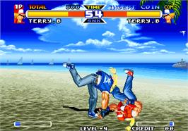 In game image of Real Bout Fatal Fury Special / Real Bout Garou Densetsu Special on the Arcade.
